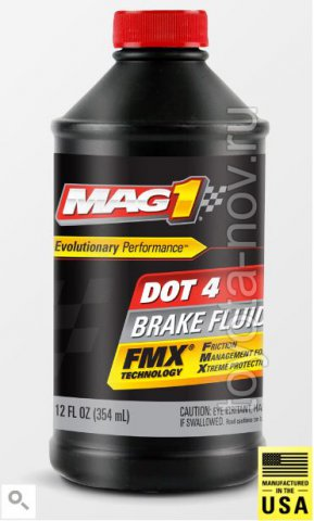 MAG00126 - Жидкость тормозная MAG1 DOT 4 Brake Fluid (354 мл) США